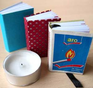 Here you can see the covers and the matchbox book's bookmark.